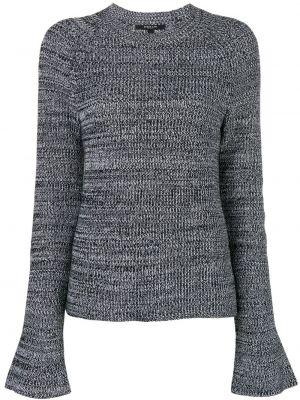 Прямой черный классический вязаный свитер Derek Lam