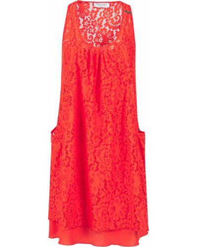 Хлопковое платье - красное Trussardi Collection