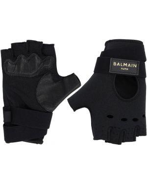 Czarne rękawiczki skorzane Puma X Balmain