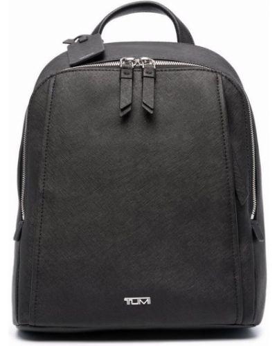 Czarny plecak srebrny Tumi