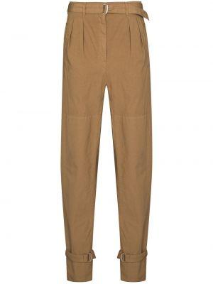 Брюки с карманами - коричневые Lemaire