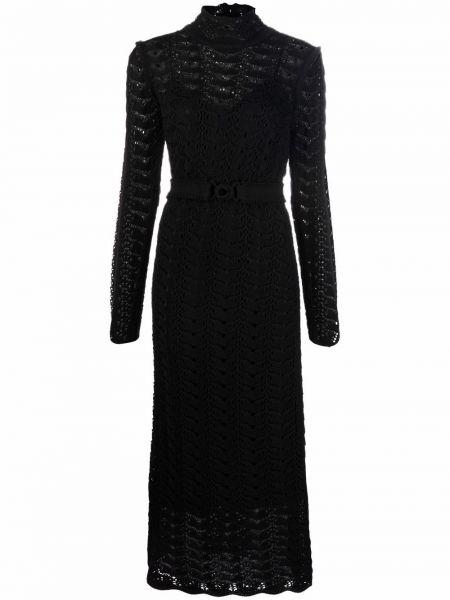 Черное платье макси с воротником Zimmermann
