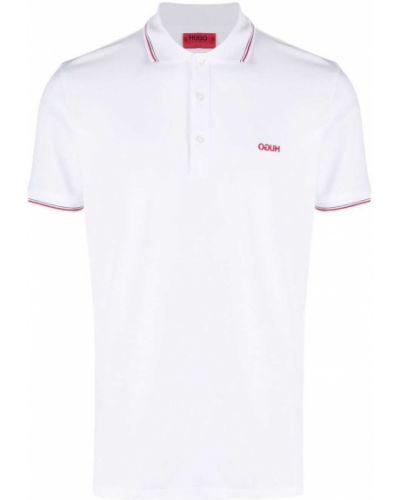 Biała koszula krótki rękaw bawełniana Boss Hugo Boss