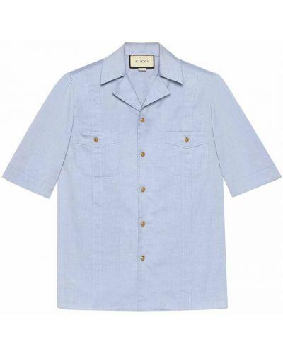 Koszula - niebieska Gucci