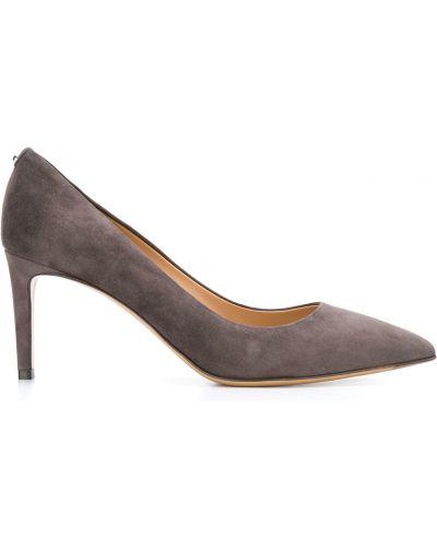 Туфли-лодочки на шпильке серые Salvatore Ferragamo