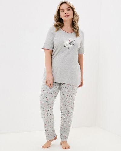 Серая пижамная пижама Ulla Popken