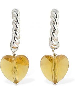 Żółte kolczyki sztyfty srebrne Isabel Lennse
