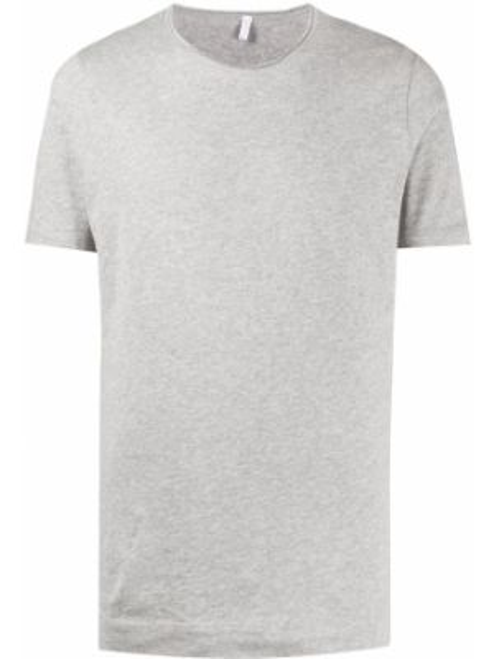 Прямая хлопковая серая футболка с круглым вырезом Cenere Gb