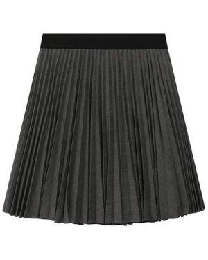 Плиссированная повседневная шерстяная юбка с подкладкой Aletta