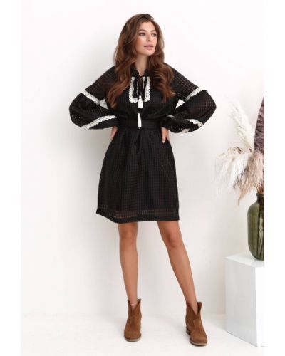 Шифоновое платье - черное Nenka