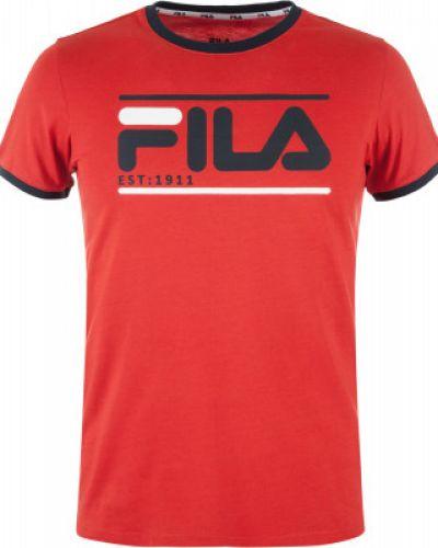 Красная футболка с логотипом Fila