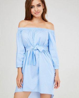 Платье с открытыми плечами осеннее Vika Ra