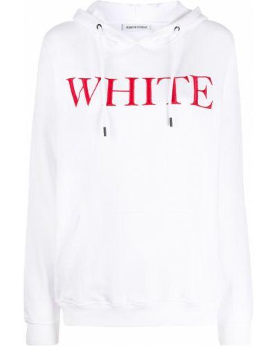 Белая толстовка с вышивкой Quantum Courage