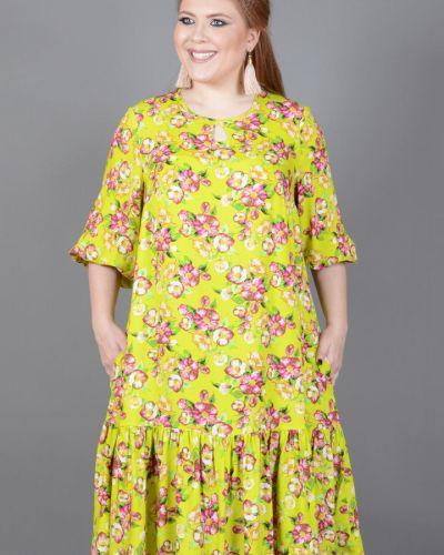 Летнее платье с цветочным принтом из штапеля Avigal (avrora)