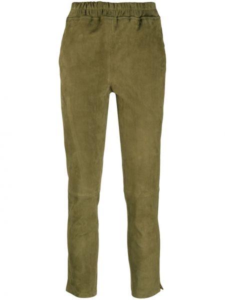 С завышенной талией кожаные брюки дудочки с карманами Arma