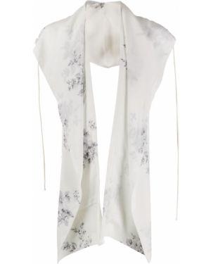 Белый шарф с драпировкой Camiel Fortgens