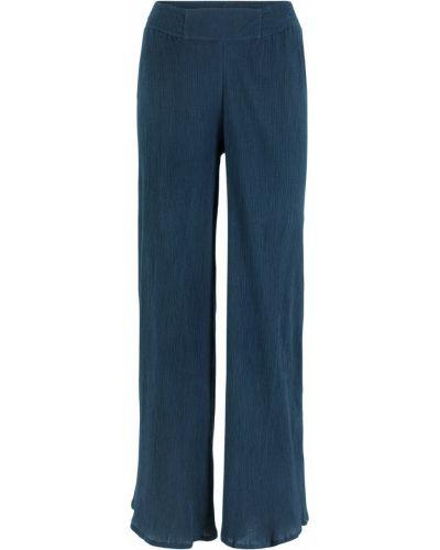 Свободные брюки темно-синий из крепа Bonprix