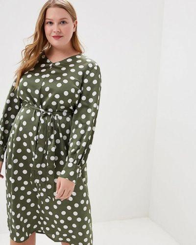 Повседневное платье зеленый хаки Studio Untold
