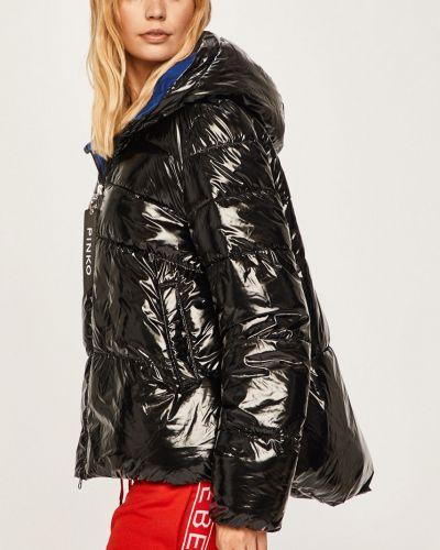 Прямая черная стеганая куртка Pinko