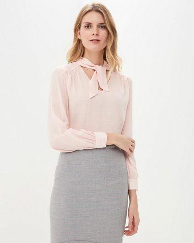 Блузка розовая с бантом Rivadu