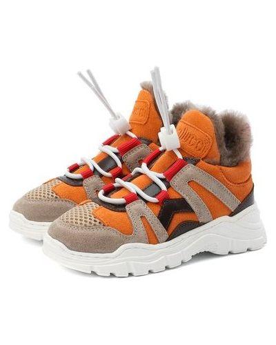 Замшевые кроссовки с подкладкой Gallucci