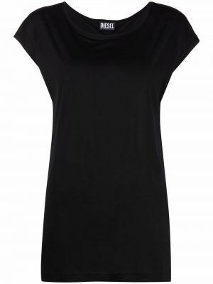 Черная футболка с вырезом без рукавов Diesel