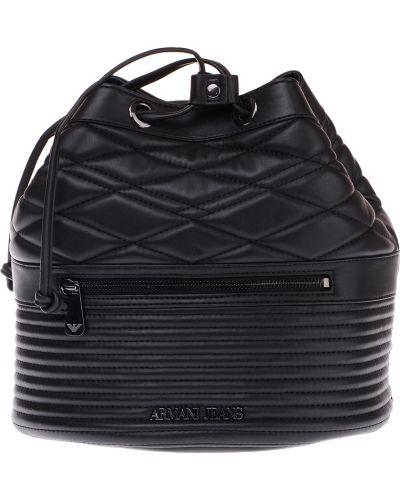 Рюкзак на шнуровке черный Armani Jeans