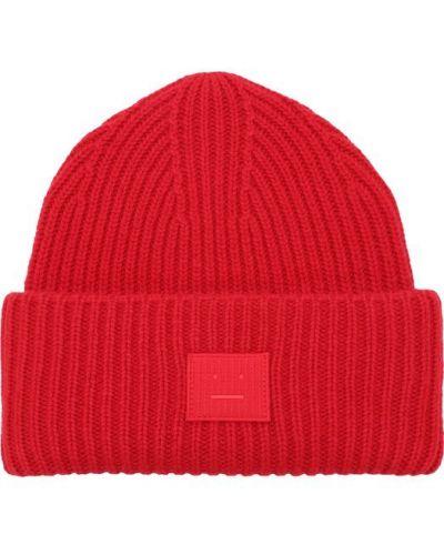 Красная вязаная шапка Acne Studios