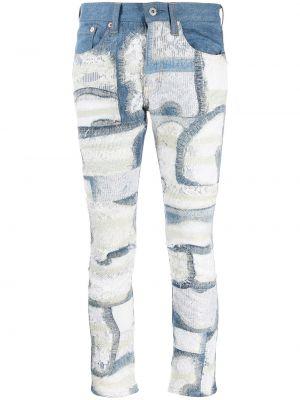 Облегающие зауженные джинсы - синие Junya Watanabe