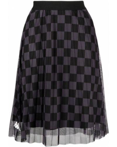 Черная юбка для полных сетчатая Kappa