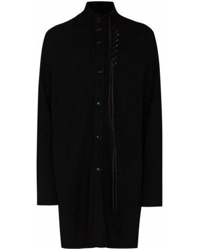 Czarny sweter koronkowy Yohji Yamamoto