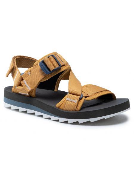 Żółte złote sandały Merrell