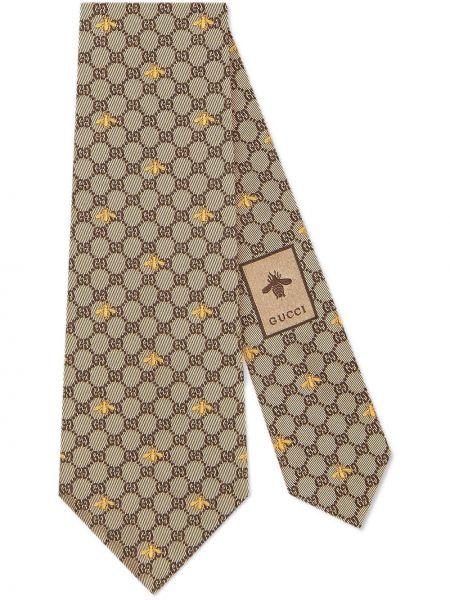 Krawat z jedwabiu Gucci