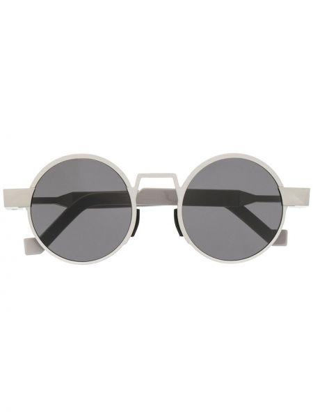 Okulary oversize srebrne Vava
