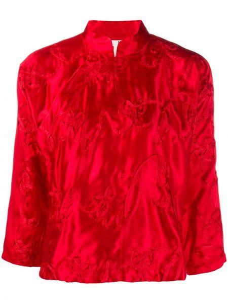 Красный пиджак на пуговицах с вышивкой Comme Des Garçons Girl