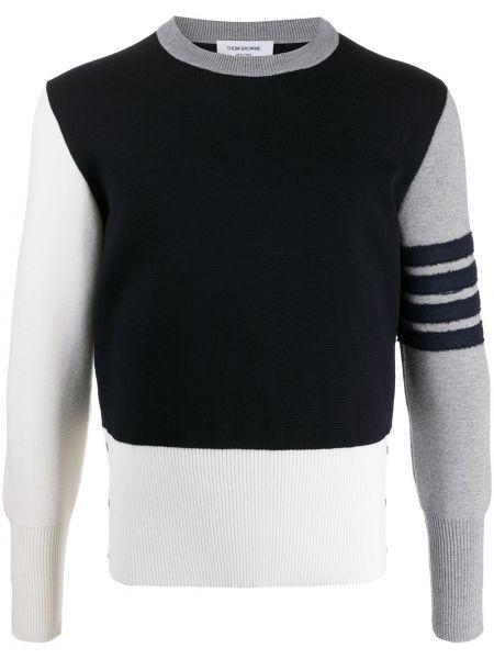 Prążkowany pulower z długimi rękawami wełniany Thom Browne