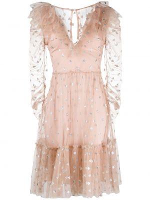 Платье миди с пайетками с V-образным вырезом Temperley London