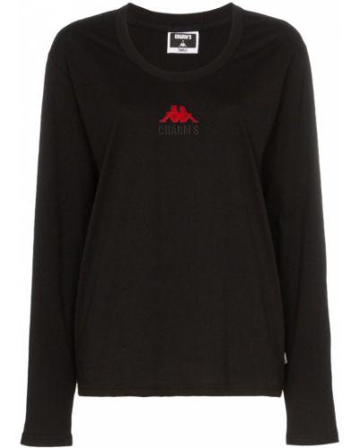 Футбольная черная футболка со спущенными плечами Charm`s