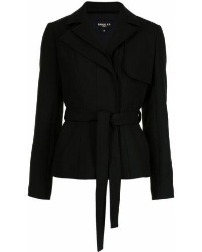 Черная куртка байкерская из вискозы Paule Ka