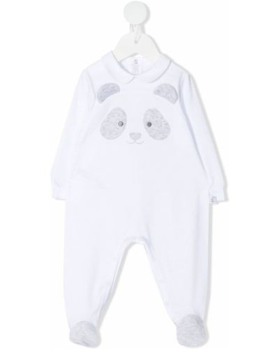 Biała piżama bawełniana z długimi rękawami Il Gufo