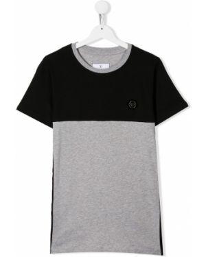 Рубашка черная серебряный Philipp Plein Junior
