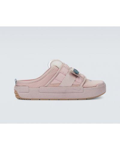 Текстильные розовые мюли Nike
