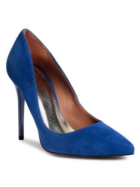 Niebieskie półbuty eleganckie R.polański