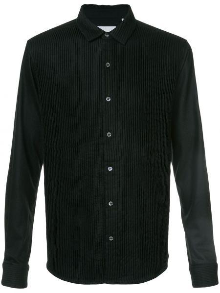 Шерстяная плиссированная черная рубашка Private Stock