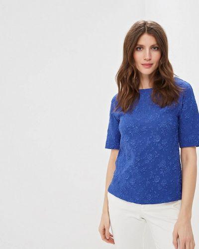 Блузка с коротким рукавом синяя весенний Grafinia