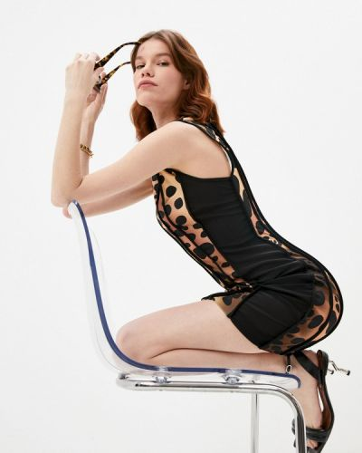 Коричневое платье-футляр Just Cavalli