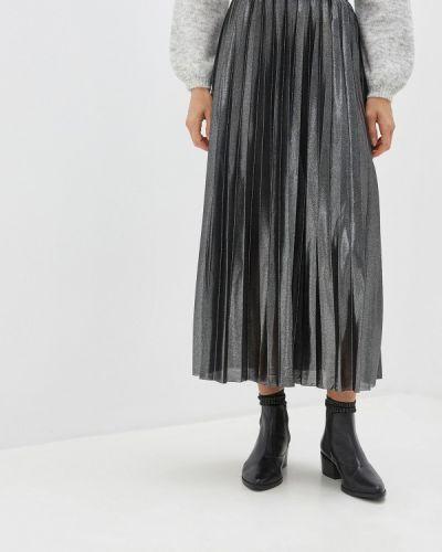 Плиссированная юбка серебряный Only