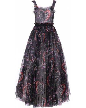 Вечернее платье макси на бретелях Dolce & Gabbana