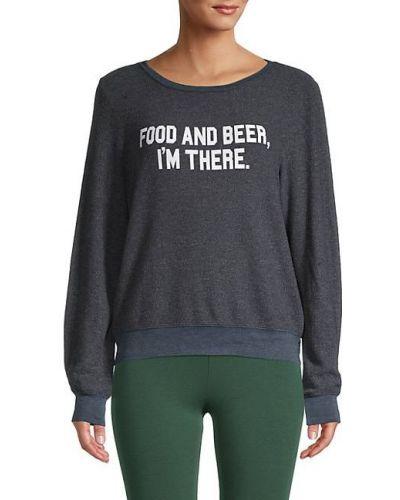 С рукавами длинный свитер с манжетами Wildfox