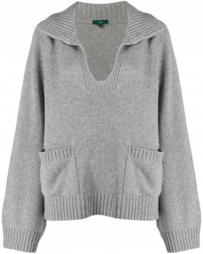 Кашемировый свитер с V-образным вырезом с воротником с рукавом реглан Jejia